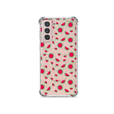 Capa (Transparente) para Galaxy S21 Plus - Mini Melancias