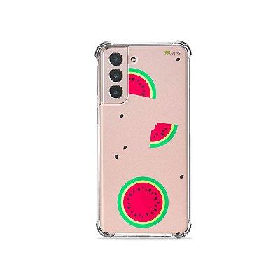 Capa (Transparente) para Galaxy S21 Plus - Melancias