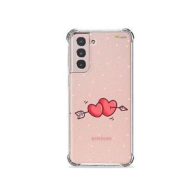 Capa (Transparente) para Galaxy S21 Plus - In Love