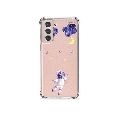 Capa (Transparente) para Galaxy S21 Plus - Astronauta Sonhador