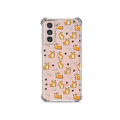 Capa (Transparente) para Galaxy S21 Plus -  Cãozinho