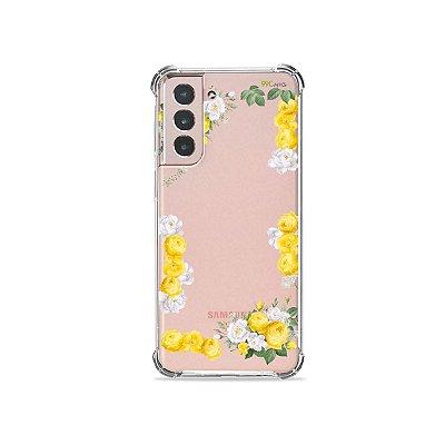 Capa (Transparente) para Galaxy S21 Plus - Yellow Roses