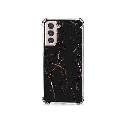 Capa para Galaxy S21 Plus - Marble Black