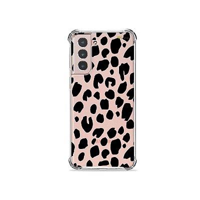Capa (Transparente) para Galaxy S21 Plus - Animal Print Basic