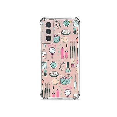 Capa (Transparente) para Galaxy S21 Plus - Make Up