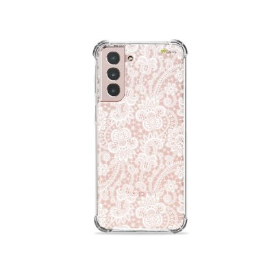 Capa (Transparente) para Galaxy S21 Plus - Rendada
