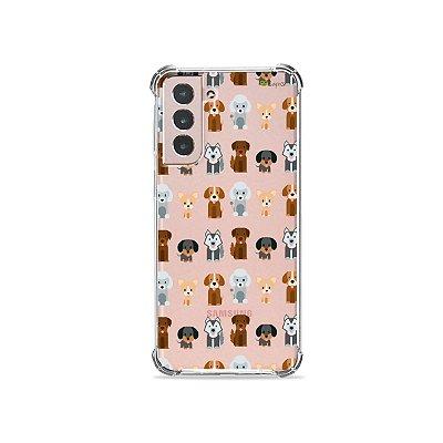 Capa (Transparente) para Galaxy S21 Plus - Doguinhos