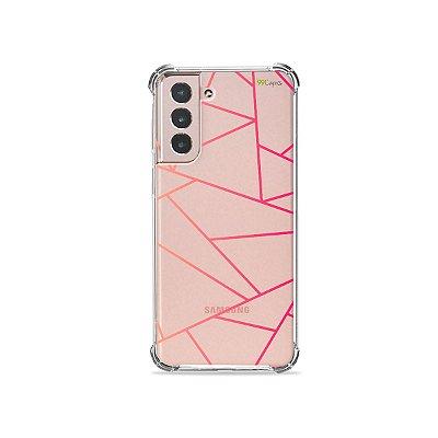 Capa (Transparente) para Galaxy S21 Plus - Abstrata