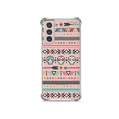 Capa (Transparente) para Galaxy S21 Plus - Tribal