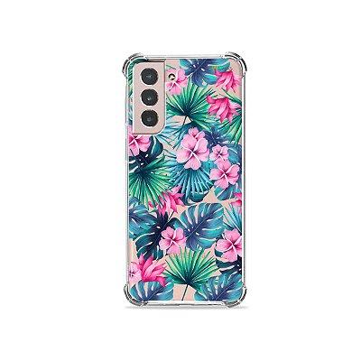 Capa (Transparente) para Galaxy S21 Plus - Tropical