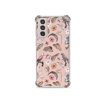 Capa (Transparente) para Galaxy S21 Plus - Sweet Bird