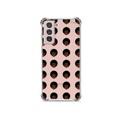 Capa (Transparente) para Galaxy S21 Plus - Black Girl