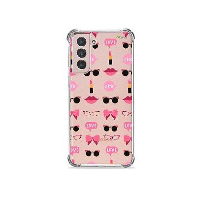 Capa (Transparente) para Galaxy S21 Plus - Girls