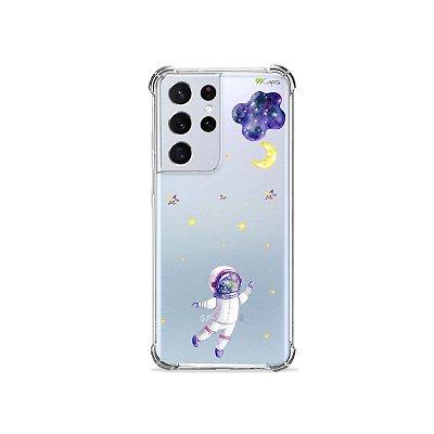 Capa (Transparente) para Galaxy S21 Ultra - Astronauta Sonhador
