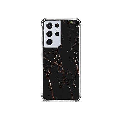 Capa para Galaxy S21 Ultra - Marble Black