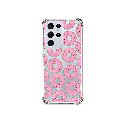 Capa (Transparente) para Galaxy S21 Ultra - Donuts