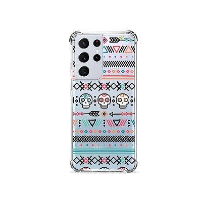 Capa (Transparente) para Galaxy S21 Ultra - Tribal