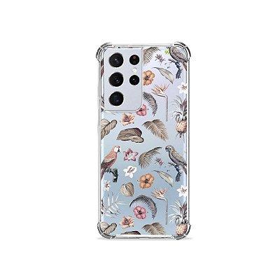 Capa (Transparente) para Galaxy S21 Ultra - Sweet Bird