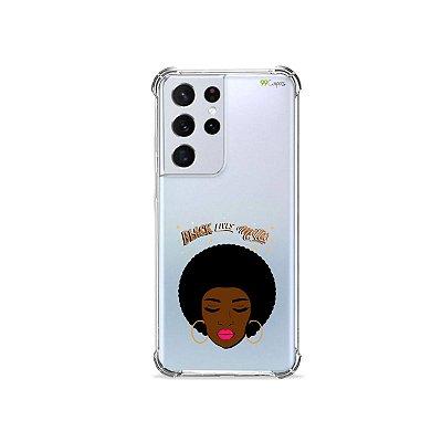 Capa (Transparente) para Galaxy S21 Ultra - Black Lives