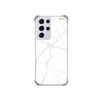 Capa para Galaxy S21 Ultra - Marble White
