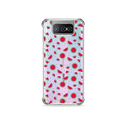 Capa (Transparente) para Zenfone 7 - Mini Melancias