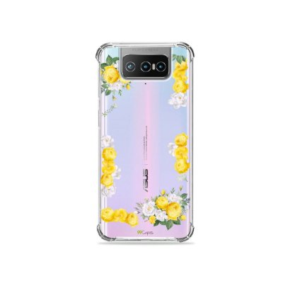 Capa (Transparente) para Zenfone 7 - Yellow Roses