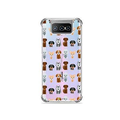 Capa (Transparente) para Zenfone 7 - Doguinhos