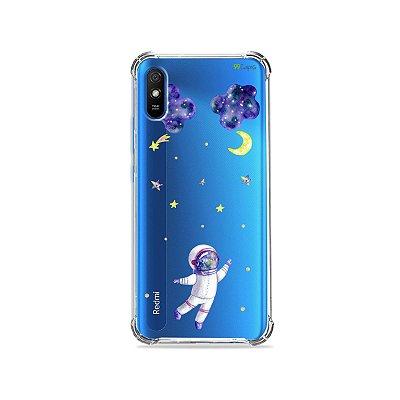 Capa (Transparente) para Redmi 9i - Astronauta Sonhador