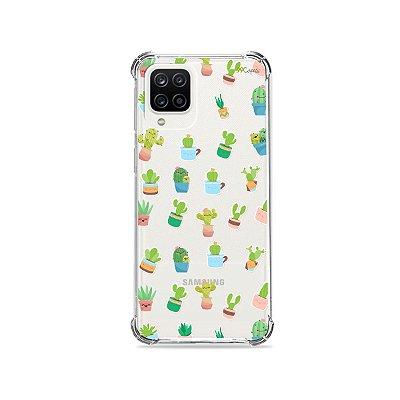 Capa (Transparente) para Galaxy A12 - Cactus
