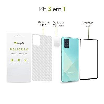 Kit de Películas 3 em 1 para Galaxy A71