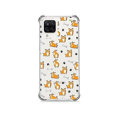 Capa (Transparente) para Galaxy A12 - Cãozinho