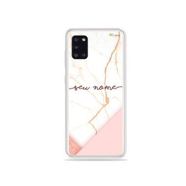 Capa Marble com nome personalizado para Galaxy S