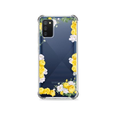 Capa (Transparente) para Galaxy A02s - Yellow Roses