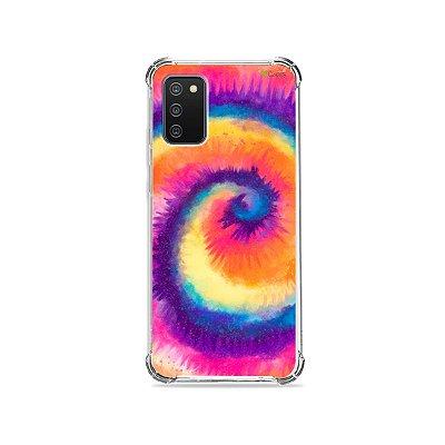 Capa para Galaxy A02s - Tie Dye Roxo