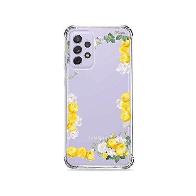 Capa (Transparente) para Galaxy A72 - Yellow Roses