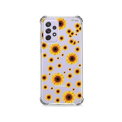 Capa (Transparente) para Galaxy A72 - Girassóis