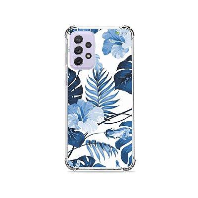 Capa para Galaxy A72 - Flowers in Blue