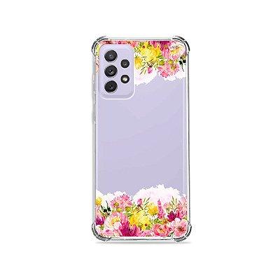 Capa (Transparente) para Galaxy A72 - Botânica