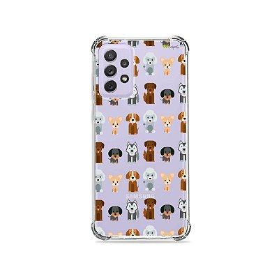 Capa (Transparente) para Galaxy A72 - Doguinhos