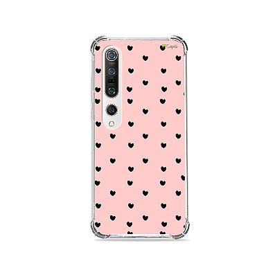 Capa para Xiaomi Mi 10 Pro - Corações Preto