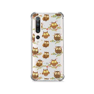 Capa (Transparente) para Xiaomi Mi 10 Pro - Corujinhas