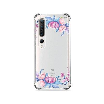Capa (Transparente) para Xiaomi Mi 10 Pro - Bromélias