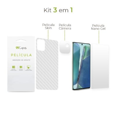 Kit de Películas 3 em 1 para Galaxy Note 20