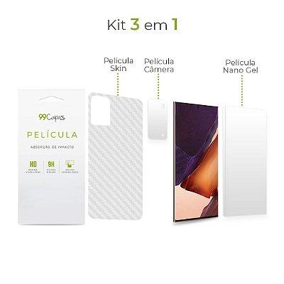 Kit de Películas 3 em 1 para Galaxy Note 20 Ultra