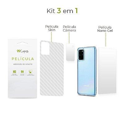 Kit de Películas 3 em 1 para Galaxy S20 Plus