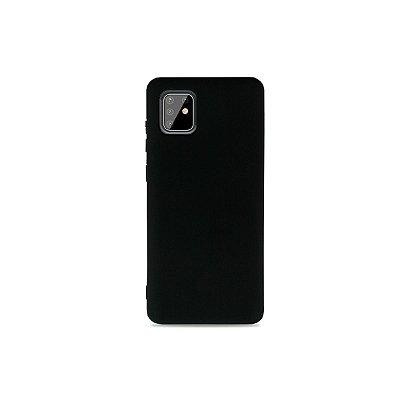 Silicone Case Preta para Galaxy Note 10 Lite