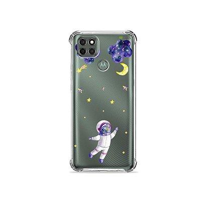 Capa (Transparente) para Moto G9 Power - Astronauta Sonhador