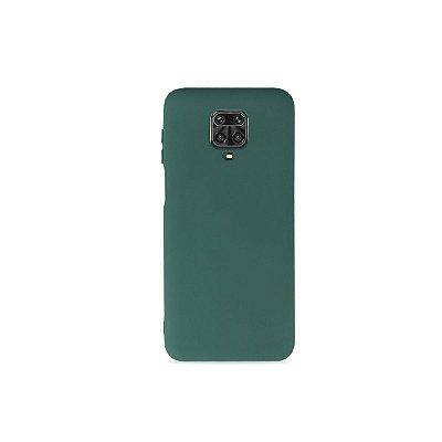 Silicone Case Verde para Redmi Note 9 Pro