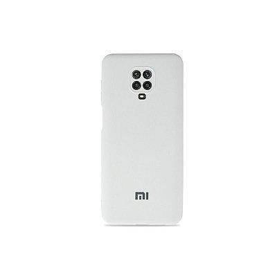 Silicone Case Branca para Redmi Note 9S (com proteção para câmera)