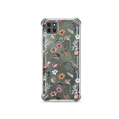 Capa (Transparente) para Moto G9 Power - Sweet Bird